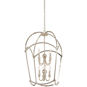 Jupiters Canopy Polished Nickel Eight-Light Pendant