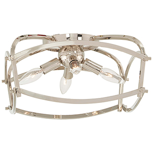 Jupiters Canopy Polished Nickel Four-Light Flush Mount