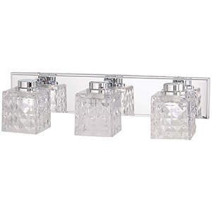 Glorietta Chrome Three-Light LED Bath Vanity