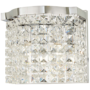Echo Radiance Chrome Six-Light Wall Sconce