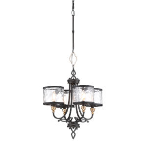 Wyndmere Sand Black With Gold Highlight Four-Light Chandelier