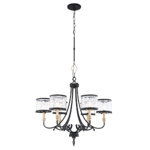 Wyndmere Sand Black With Gold Highlight Six-Light Chandelier