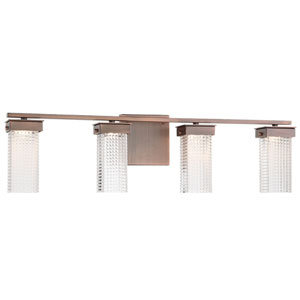 Dewberry Lane Dark Brushed Bronze Four-Light LED Bath Vanity
