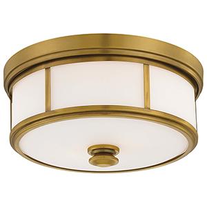 6368-249 Liberty Gold Three-Light Flush Mount