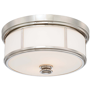 6368-613 Polished Nickel Three-Light Flush Mount