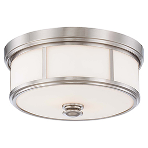 6368-84 Brushed Nickel Three-Light Flush Mount