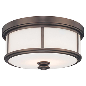 6369-281 Harvard Court Bronze Five-Light Flush Mount