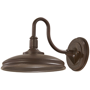 Harbison LED Bronze with Copper Flecks 11-Inch LED Outdoor Wall Sconce