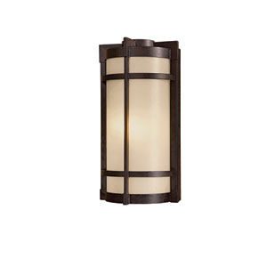 Andrita Court Textured French Bronze One-Light 17-Inch Outdoor Wall Mount