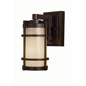 Andrita Court Textured French Bronze One-Light Outdoor Wall Mount