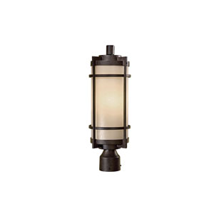Andrita Court Textured French Bronze One-Light Outdoor Post