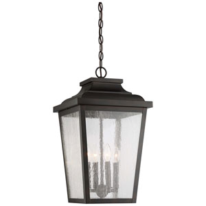 Irvington Manor Chelesa Bronze 12-Inch Four-Light Outdoor Pendant
