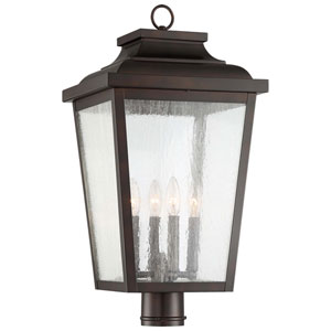 Irvington Manor Chelesa Bronze 12-Inch Four-Light Post Mount