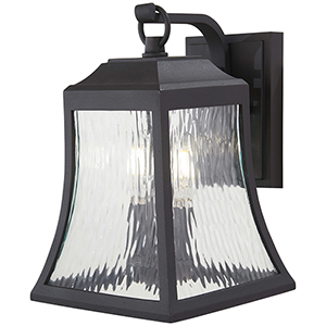 Cassidy Park Black Two-Light Outdoor Wall Sconce