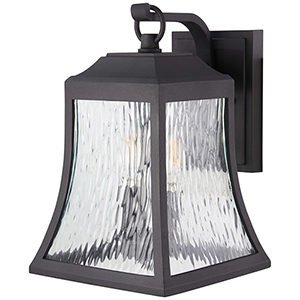 Cassidy Park Black Three-Light Outdoor Wall Sconce