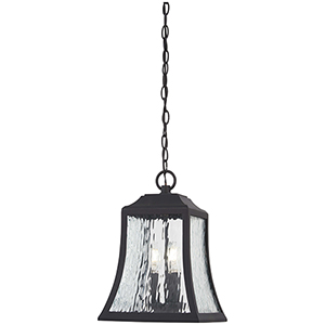Cassidy Park Black Three-Light Outdoor Pendant