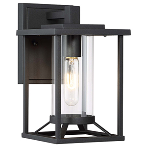 Trescott Black 11-Inch One-Light Outdoor Wall Sconce