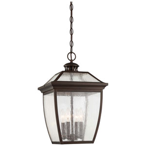 Sunnybrook Alder Bronze 12-Inch Four-Light Outdoor Pendant