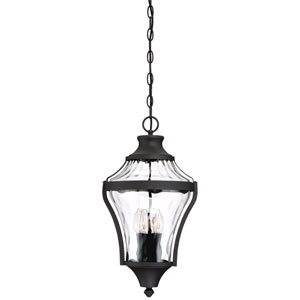 Libre Black Four-Light Outdoor Pendant with Water Glass