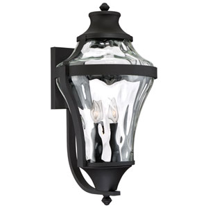 Libre Black Four-Light Outdoor Wall Mount with Water Glass