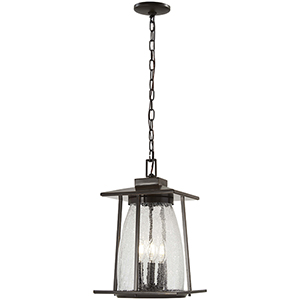 Marlboro Oil Rubbed Bronze with Gold Highlights Four-Light Outdoor Pendant