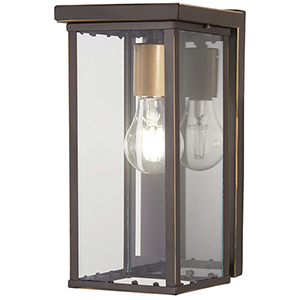 Casway Oil Rubbed Bronze with Gold Highlights One-Light Outdoor Wall Sconce
