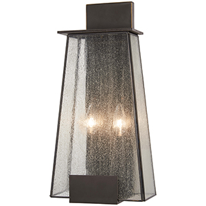 Bistro Dawn Dakota Bronze Two-Light Outdoor Wall Sconce