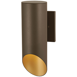 Pineview Slope Sand Bronze and Gold One-Light Outdoor Wall Sconce