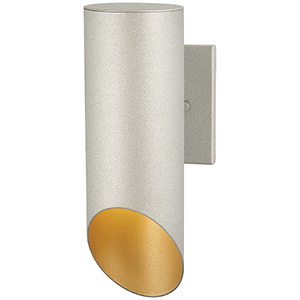 Pineview Slope Sand Silver and Gold One-Light Outdoor Wall Sconce