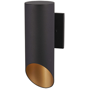 Pineview Slope Black and Gold One-Light Outdoor Wall Sconce