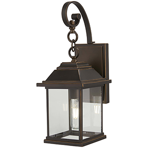 Mariners Pointe Oil Rubbed Bronze with Gold Highlights One-Light Outdoor Wall Sconce