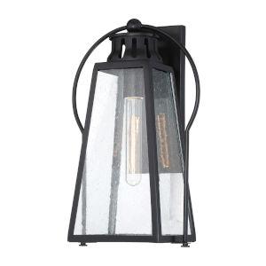 Halder Bridge Matte Black Nine-Inch One-Light Outdoor Wall Lantern