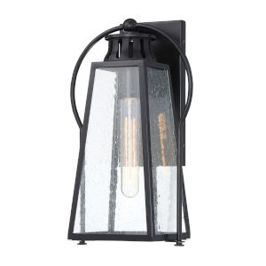 Halder Bridge Matte Black 10-Inch One-Light Outdoor Wall Lantern