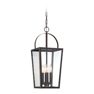 Rangeline Oil Rubbed Bronze With Gold High Four-Light Outdoor Mini-Pendant
