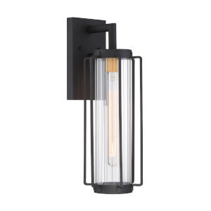 Avonlea Black With Gold Six-Inch One-Light Outdoor Wall Mount