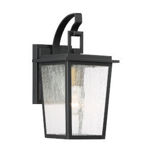 Cantebury Black With Gold One-Light Outdoor Wall Mount