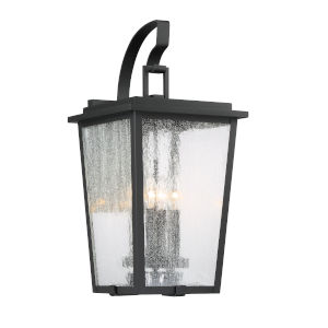 Cantebury Black With Gold 11-Inch Four-Light Outdoor Wall Mount