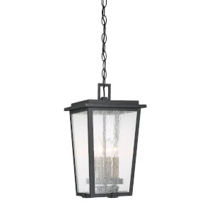 Cantebury Black With Gold Four-Light Outdoor Mini-Pendant