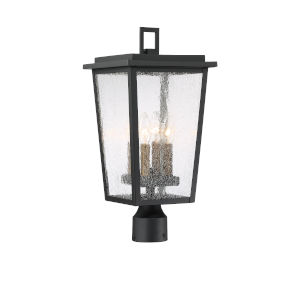 Cantebury Black With Gold Four-Light Outdoor Post