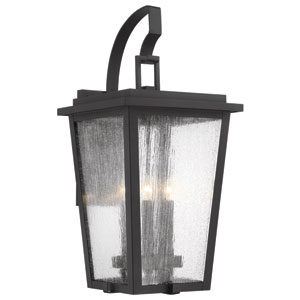 Cantebury Black and Gold Four-Light Outdoor Wall Mount