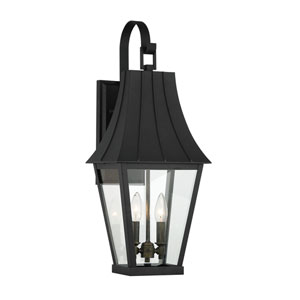 Chateau Grande Coal with Gold Two-Light Outdoor Wall Mount
