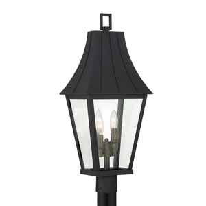 Chateau Grande Coal with Gold Four-Light Outdoor Post Mount