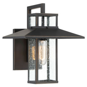 Danforth Park Oil Rubbed Bronze And Gold One-Light 10-Inch Outdoor Wall Mount