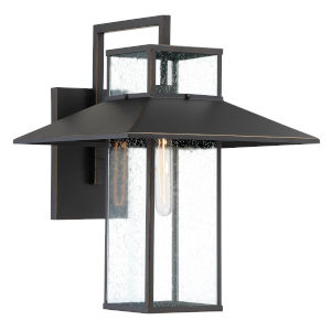 Danforth Park Oil Rubbed Bronze And Gold One-Light 14-Inch Outdoor Wall Mount