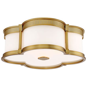 Liberty Gold 16-Inch LED Flush Mount with Etched White Glass