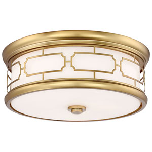 Liberty Gold 16-Inch LED Flush Mount with Opal Glass