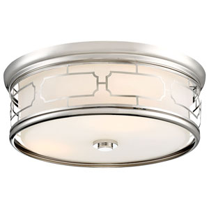 Polished Nickel 16-Inch LED Flush Mount