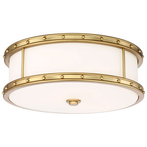 Drum Liberty Gold 16-Inch LED Flush Mount
