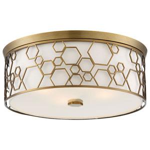 Polished Satin Brass 17-Inch LED Flush Mount