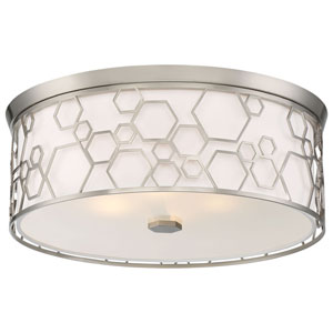 Brushed Nickel 17-Inch LED Flush Mount